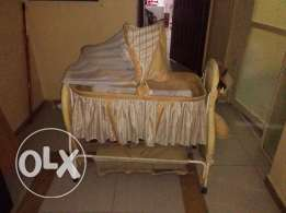 Baby Cot with Bed & Stroller KD 30/- Only
