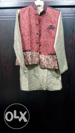 designed jacket with kurta and pant