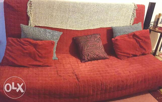 Sofa cum bed with cushions n covers