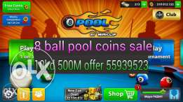 8 ball pool coins for sale 10kd 500m