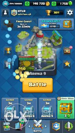 Clash royal legandary arena all legandry and clan