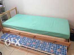 Ikea double bed with two matress