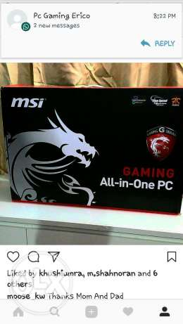 MSI GAMING PC 24 inch 4k touch screen all in one. i7 Procecor GTX 860m