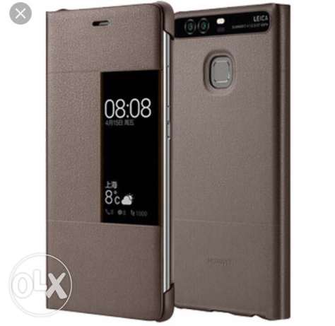 smart original real leather cover for p9 plus