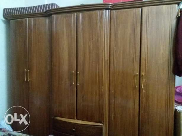 2 cupboards with bed also of 6 door just like new