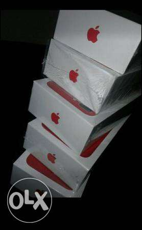 Red limited edition iPhones