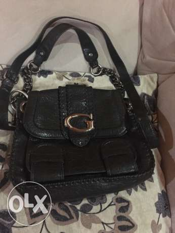 Guess black leather bag original