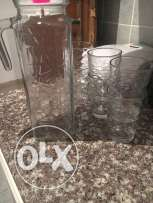 Large drinking jar for juices or water