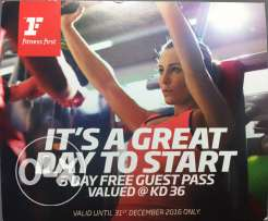 3 Day pass for Fitness First