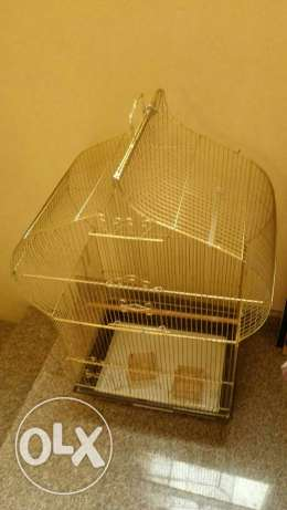 Golden colour bird cage for sale