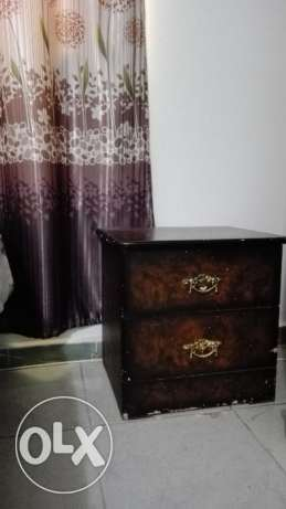 Wardrobe ,dressing table with 2 side tables set available for sale