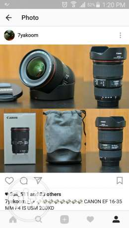 Canon zoom lens 16-35 is l f4