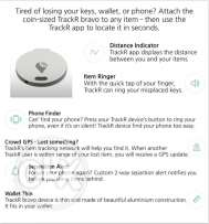 Tracker - Coin size device to find your lost items