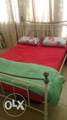 ** Metal Bed with Mattress ** 60 x 80 inches