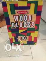 Wood blocks 100 pieces