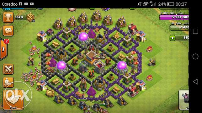 Clash of clans town 8 السالمية -  2
