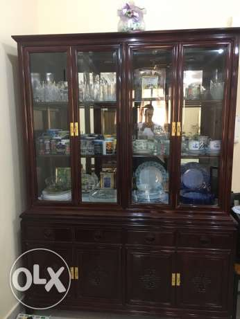 ROSE WOOD Crockery unit with Hutch/ family moving