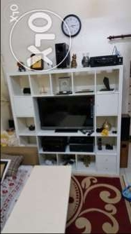 Tv rack with decoration area