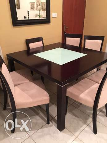 Table with 8 chair and cabinet السالمية -  3