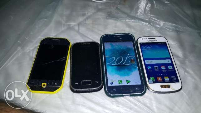 Samsung j1 ,samsung s3 mini and remain 2 phones total 4 phone