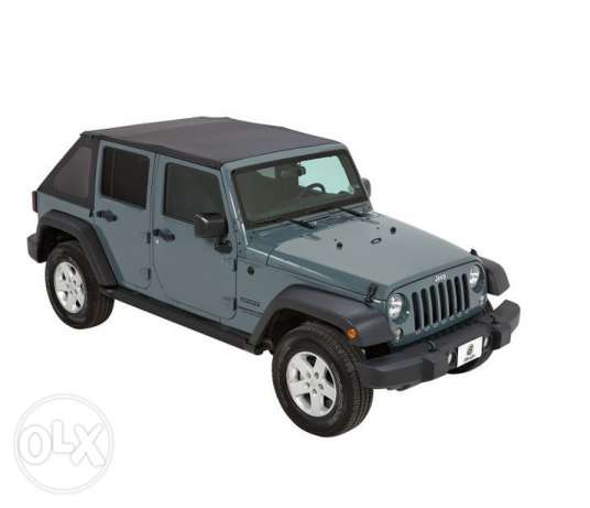 Soft top for Jeep Wrangled 4 door fits 2003/2017