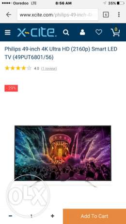 Philips 49 inch 4K UHD smart tv for sale brand new sealed pack