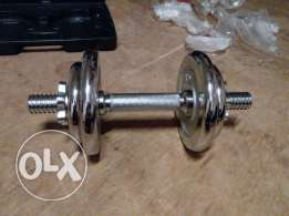 New chrome coated solid gym dumbbell for sale