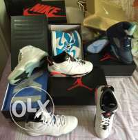 All Jordan Shoes all Authentic with original receipt from Nike and Foo