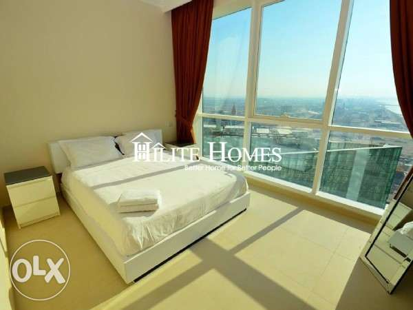 Sea View Three Bedroom Apartment In Salmiya