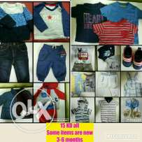 60 pieces for 3-6 months brand mothercare . Next and junior