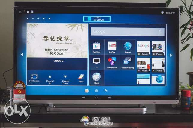 TOSHIBA smart led Full HD 1920x1080