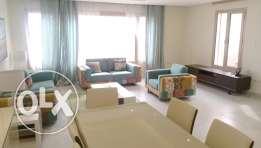 Furnished sea view three bedroom apartment for rent in salmiya