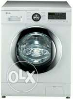 LG washing machine. 7KG. Front load fully auto. Model. F10B8QDT25