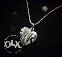 925 Ct. Silver Customized Alphabet Pendant with Chain