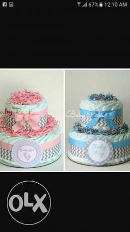 Nappy cakes. for New Born Baby Shower..
