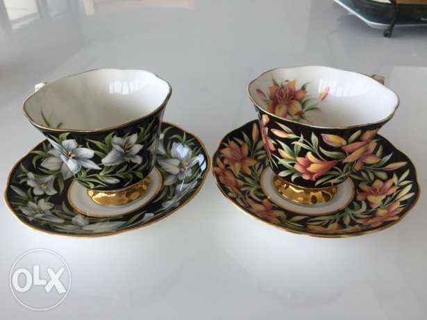 Royal Albert coffee (tea) cup set from england by 15 June
