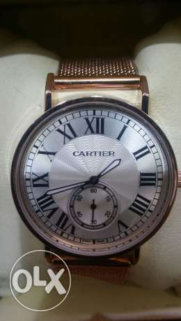 Cartier latest branded bronze watch for men