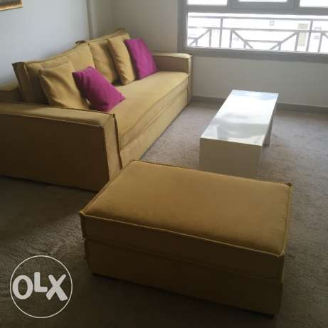 Sofa,footstool and table