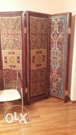 Hand painted Silk room divider