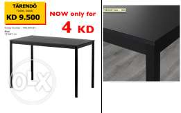 IKEA Dining Table Black, Size 110x67 cm