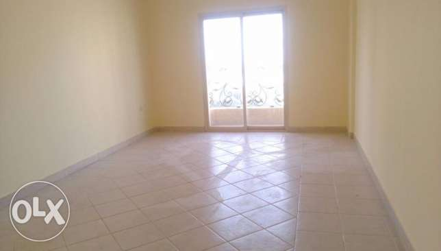 Big sea view one bedroom unfurnished apartment with balcony in Salmiya