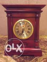 Decorative Clock and Glass bowl.