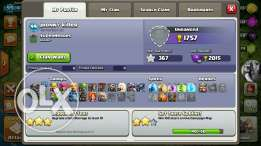 Clash of clan COC lvl99 with 375 gems