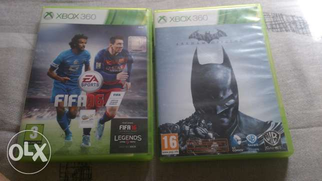 For Sale XBOX 360 Games PAL FIFA16/BatMan