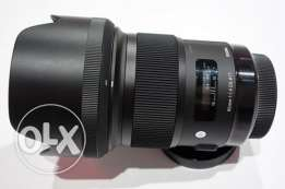 Sigma 50.mm f1.4 art lens canon mount for sale