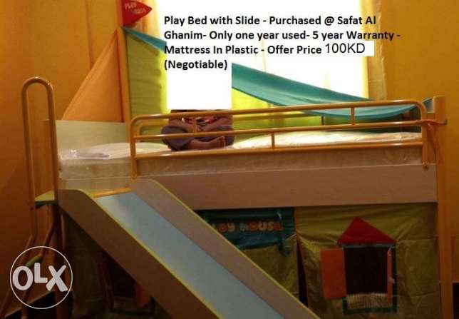 Childrens Play Bed with slide