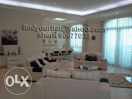 large 4 bedroom floor in salwa semi furnished